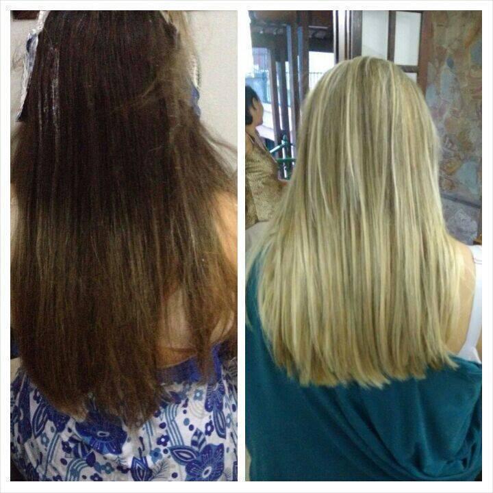 Blond Antes e depois master blond! maquiador(a) designer de sobrancelhas cabeleireiro(a) stylist