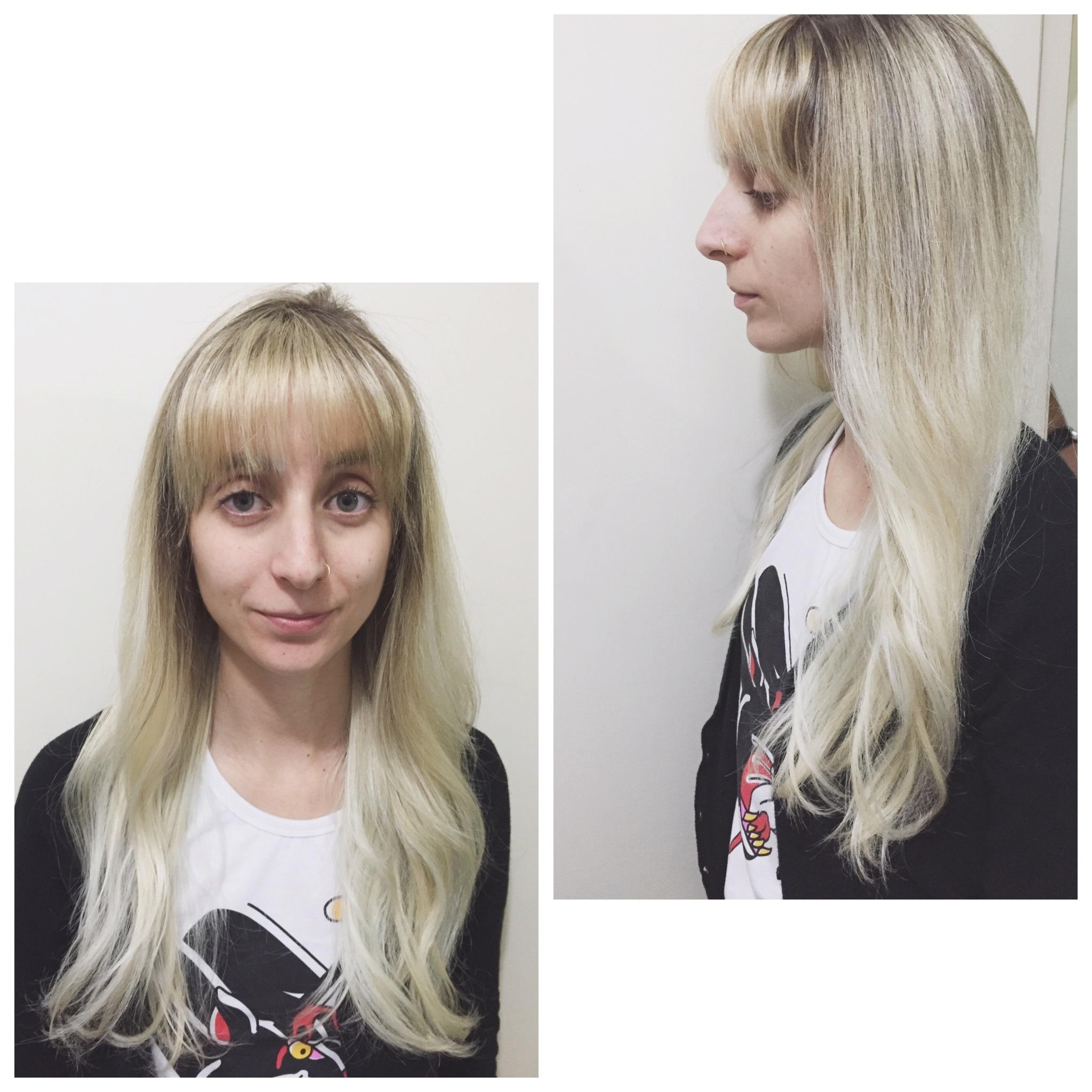 Ombre com luzes cabeleireiro(a) maquiador(a)