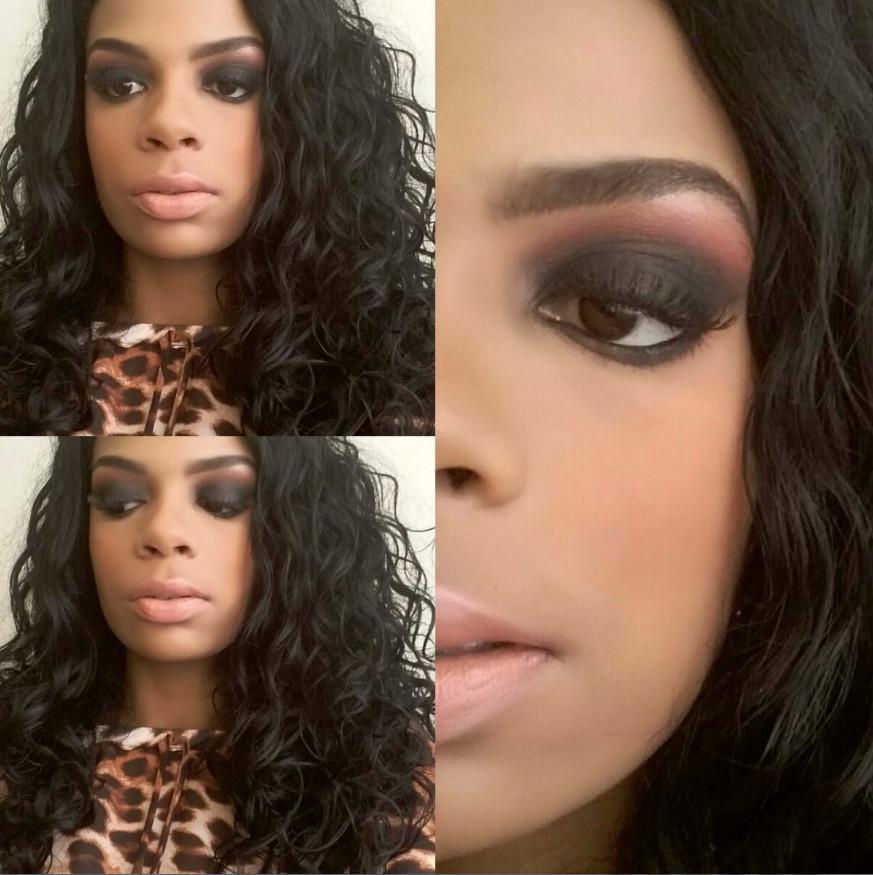 preto, rosa, esfumado maquiagem  maquiador(a)