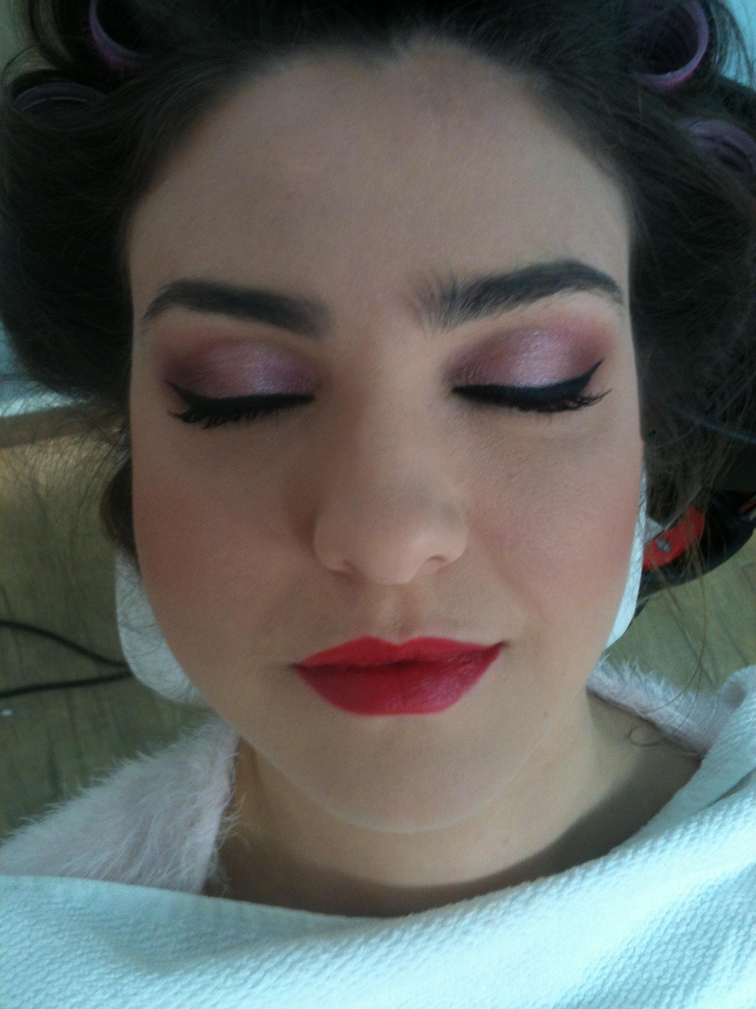 rosa, esfumado maquiagem  cabeleireiro(a) maquiador(a)
