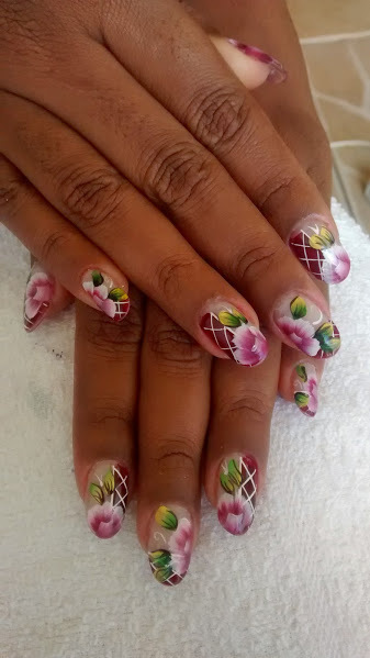 flores, rosa, vinho unhas  manicure e pedicure