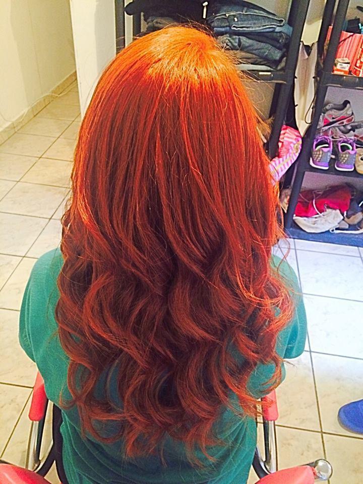 ruivo, coloração cabelo  cabeleireiro(a)