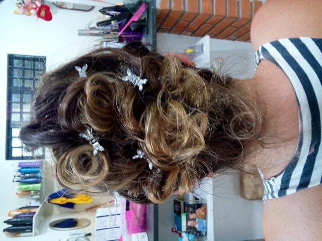 penteado, preso cabelo  cabeleireiro(a)