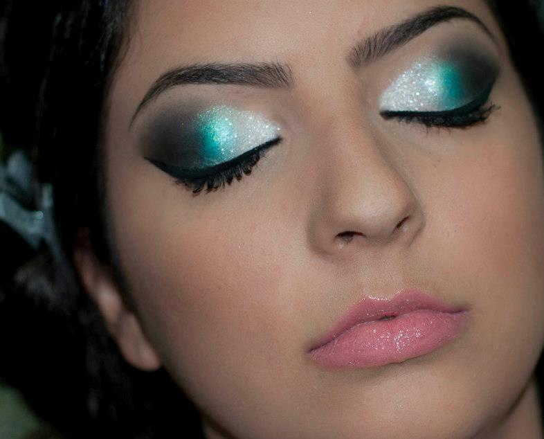 prata, verde, preto maquiagem  maquiador(a)