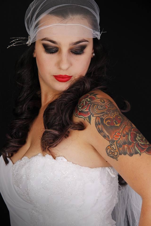 noiva, rock, esfumado, pin up maquiagem