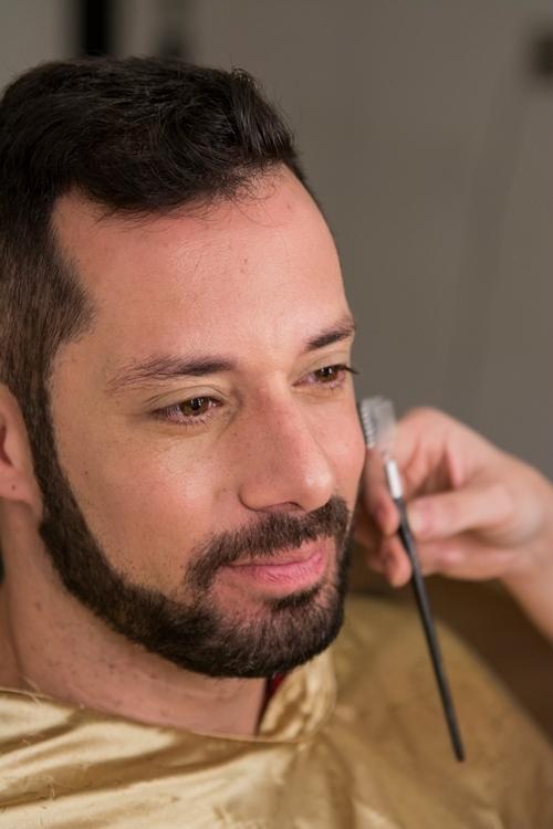 Making off das fotos para capa de CD e material publicitário do cantor Fernando Porto maquiador(a) cabeleireiro(a) consultor(a) em imagem