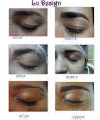 manicure e pedicure designer de sobrancelhas