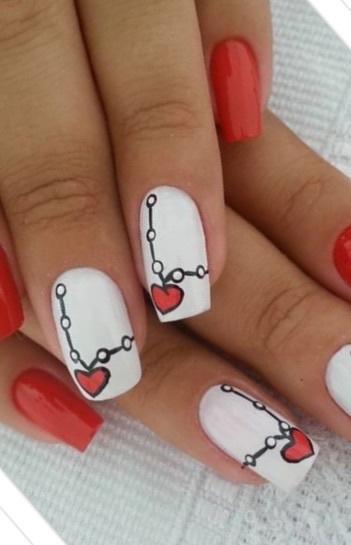 unha nail art irmã gêmea, coração unhas  cabeleireiro(a) manicure e pedicure