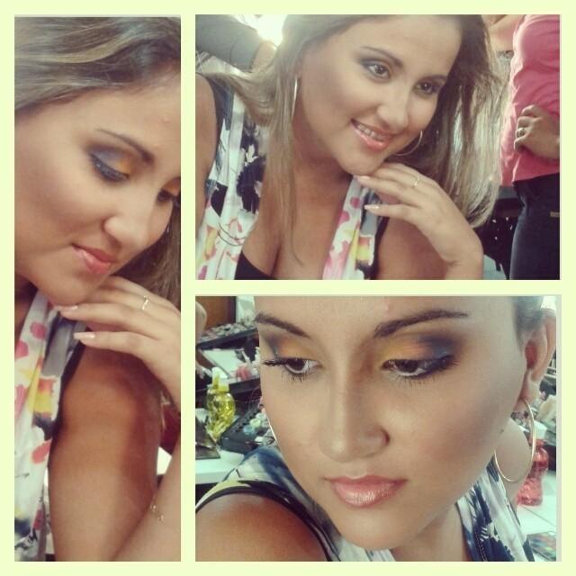 maquiagem colorida, esfumado, batom nude maquiagem  cabeleireiro(a) maquiador(a)