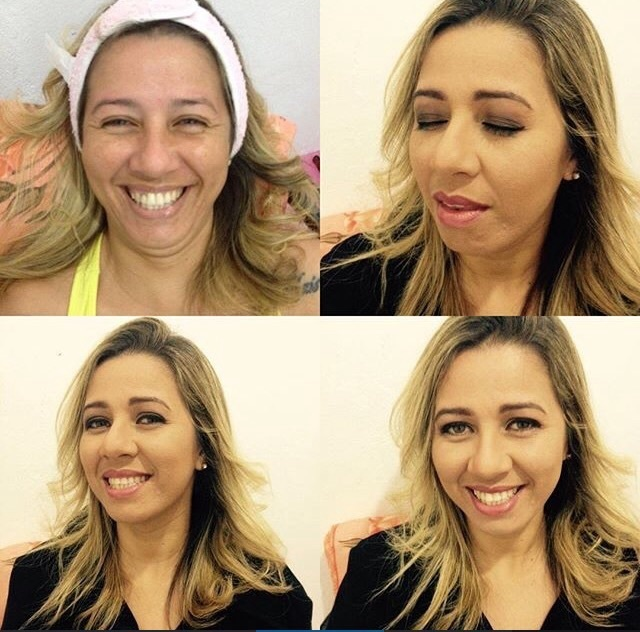 Ela não gosta de make então fiz algo leve resultado #mocabonita #deixarmulheresmaislindas ❤️ cabeleireiro(a) maquiador(a)