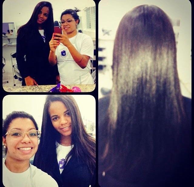 #negralinda #tioglicolatodeamonia #ficouperfeita #colegadocursomaislinda cabeleireiro(a) maquiador(a)