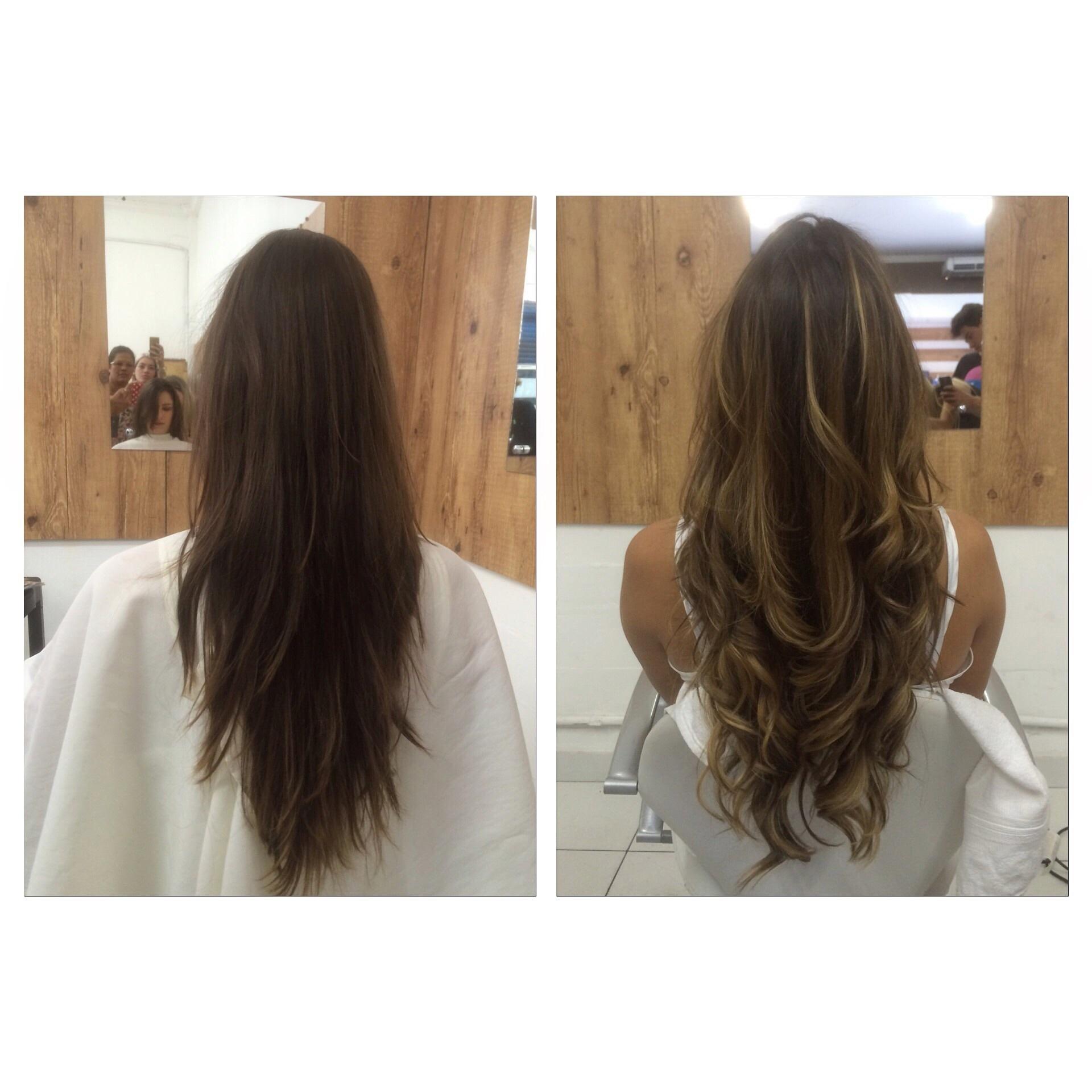corte camadas, ombré hair, luzes, morenas iluminadas cabelo  cabeleireiro(a)