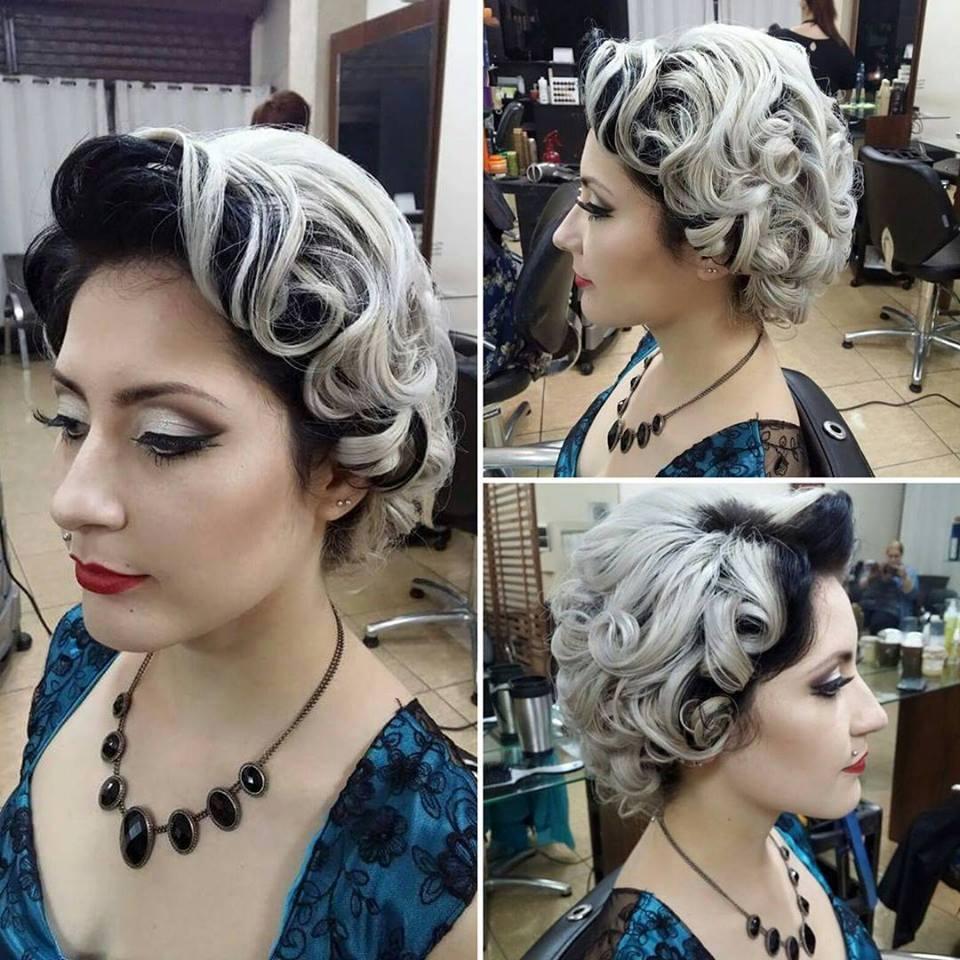 Trabalho realizado por  mim.  Maquiagem inspirada na  década   de  50,  com um look bem clássico pin up. #makeup #maquiagem #madrinha #pinup #classicmakeup #vintagegirl maquiador(a)