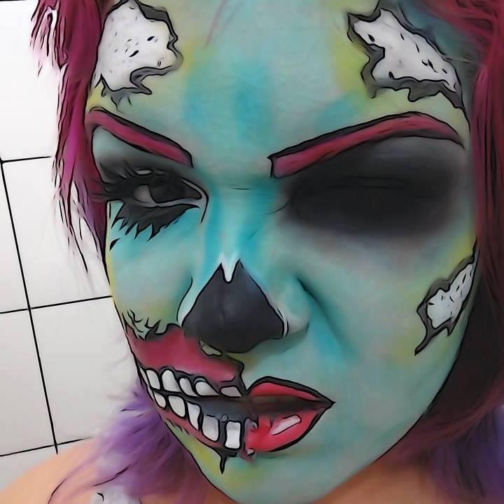 #halloween #makeup #caracterização #cíliospostiços #caveira #diadasbruxas #bauty #maquiagem #popart maquiador(a)