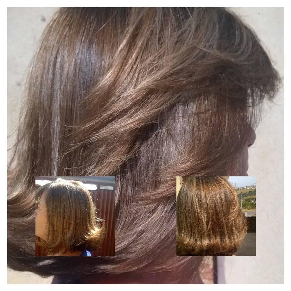 Corte chanel com bico e mechas. cabeleireiro(a)