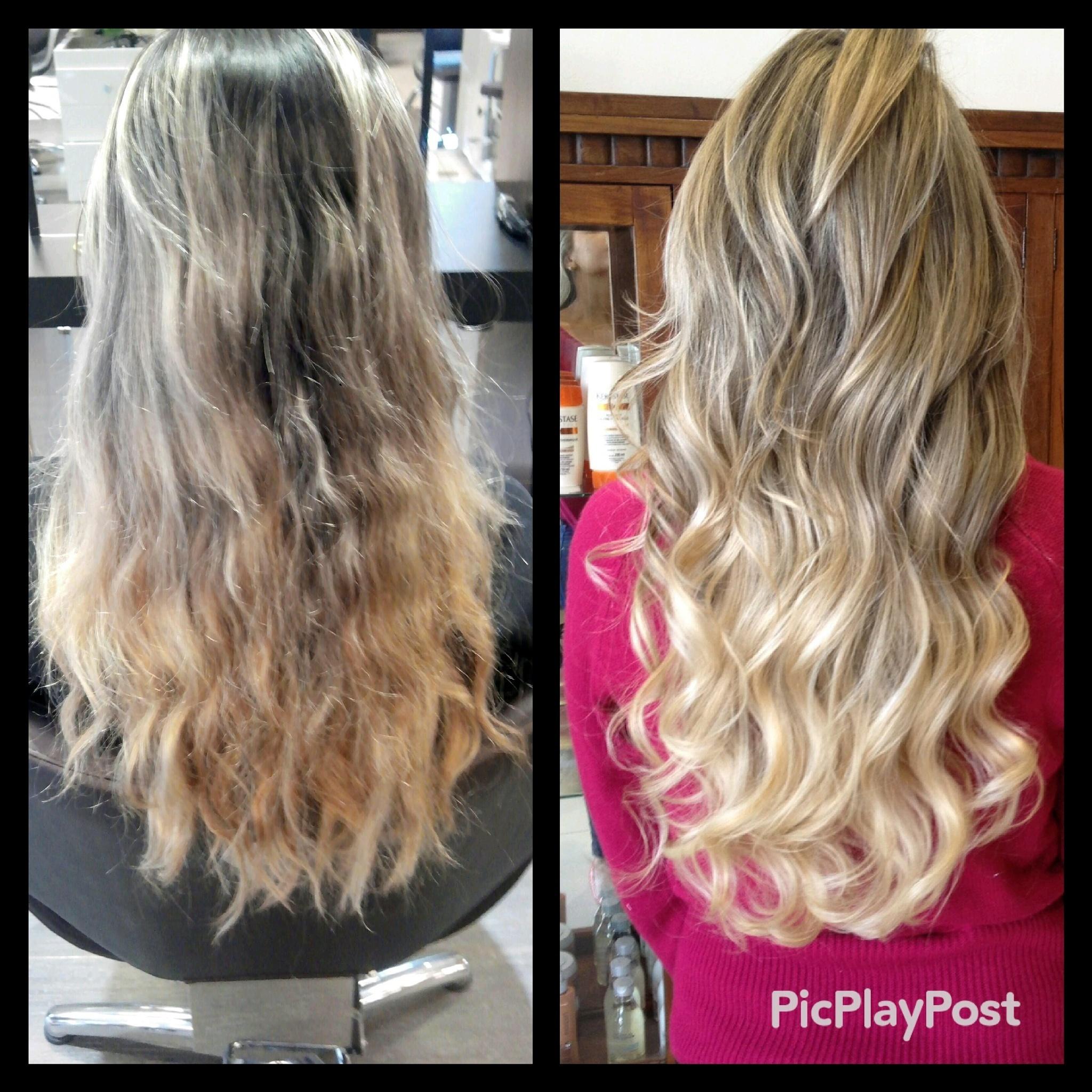 #correcao#loirogold#hair#hairdo#beforeandafter#waves cabeleireiro(a)