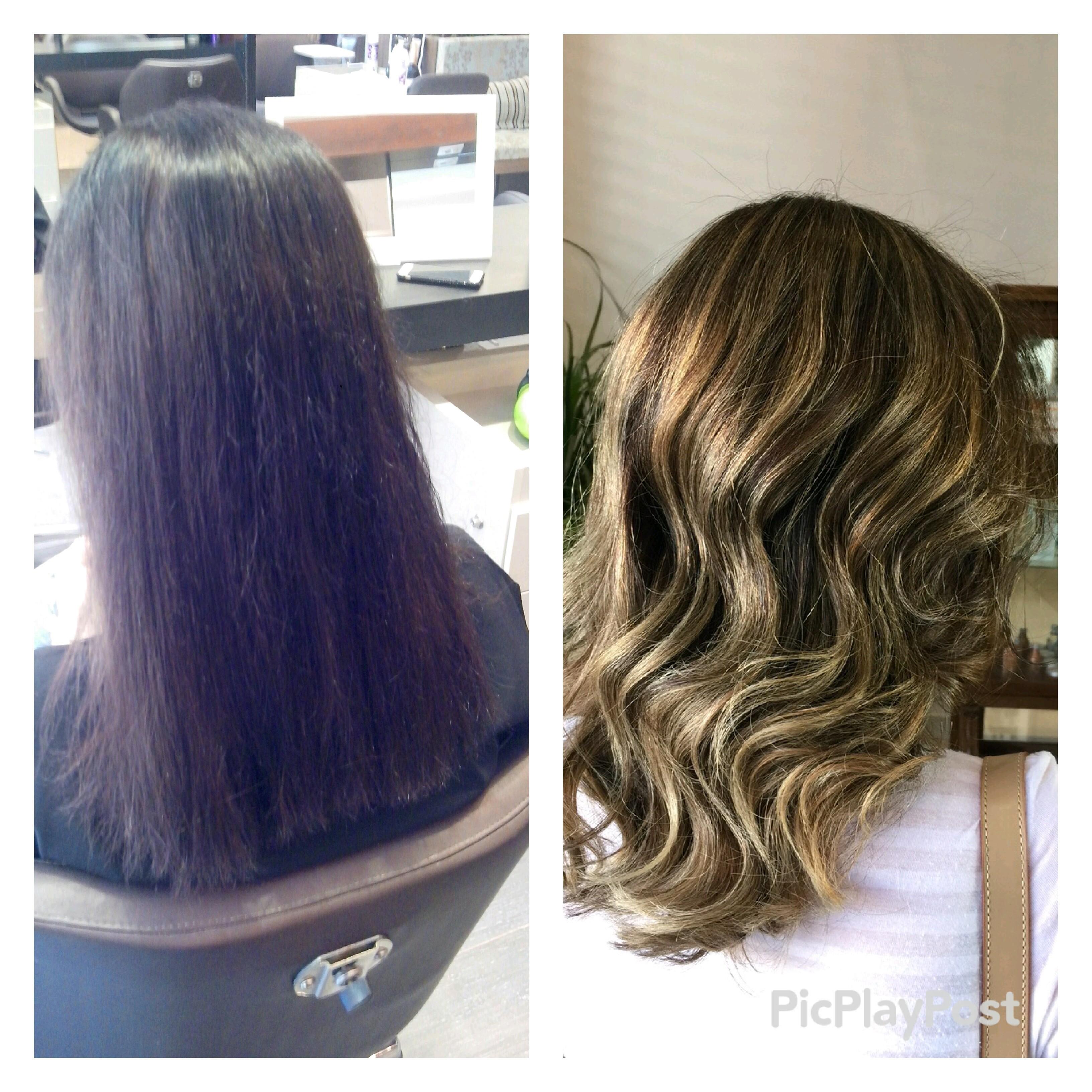 Cabelo com coloracao castanho claro #iluminacao#comecandoaficarloira#loiromel#hair#waves cabeleireiro(a)