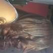 euEu escovo e prancho meu cabelo.
