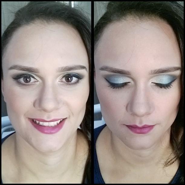Makeup de madrinha Essa mulher não costumava usar muita maquiagem, então pediu um makeup que não fosse muito forçado, com pele bem natural, e uma sombra colorida mais que não chamasse tanto a atenção. maquiador(a)