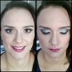 Makeup de madrinhaEssa mulher não costumava usar muita maquiagem, então pediu um makeup que não fosse muito forçado, com pele bem natural, e uma sombra colorida mais que não chamasse tanto a atenção.