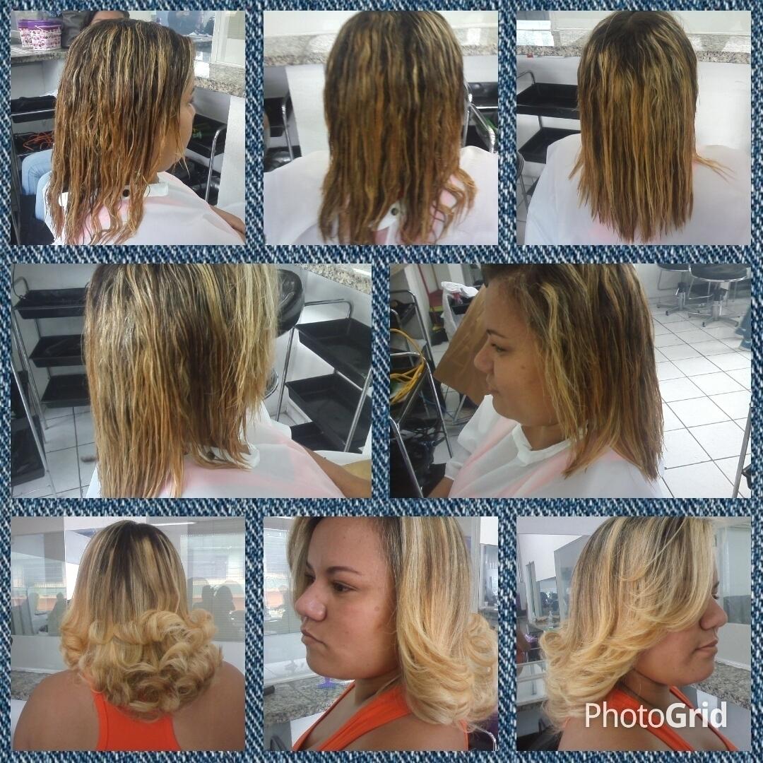 Corte e escova Após lavar os cabelos, iniciei o corte U com camadas de 45 graus. Finalizei com escova e chapinha auxiliar cabeleireiro(a) designer de sobrancelhas cabeleireiro(a)