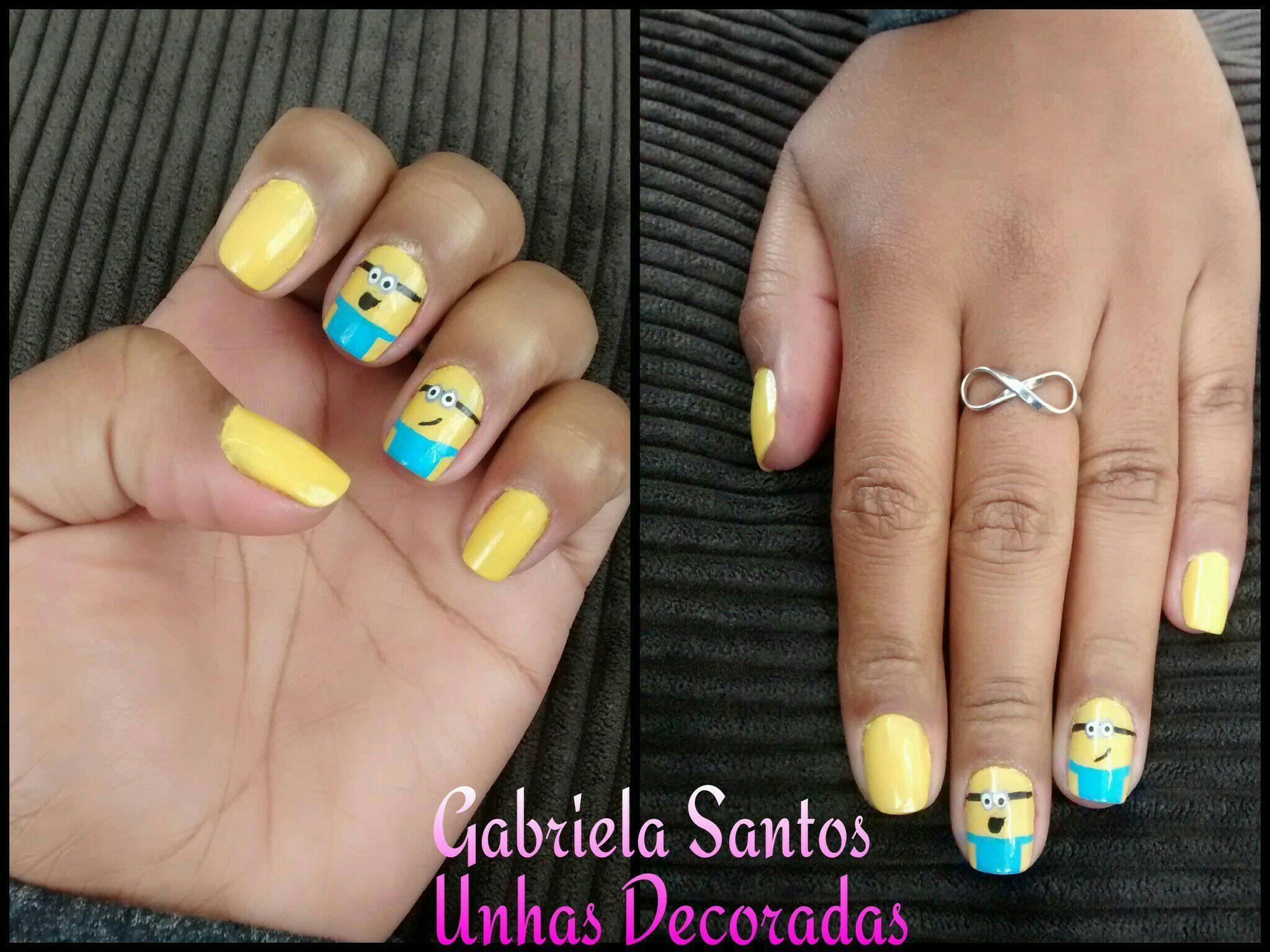 #UnhasDecoradas minions #NailArt  #DecoradaaMão #Esmalte manicure e pedicure