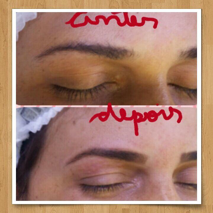 Finalização com henna designer de sobrancelhas assistente maquiador(a) auxiliar administrativo recepcionista