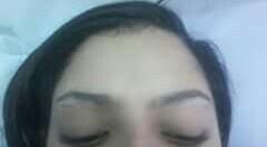 Cliente adolescente Rayane-Antes Modelagem feita com pinça. esteticista designer de sobrancelhas depilador(a)