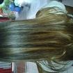 #minhaprogressiva #bycris que fiz na minha vizinha um cabelo bastante volumoso e muito ondulado e nunca fiz curso ; D