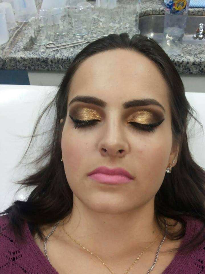 #dourado#glitter#festa designer de sobrancelhas micropigmentador(a)