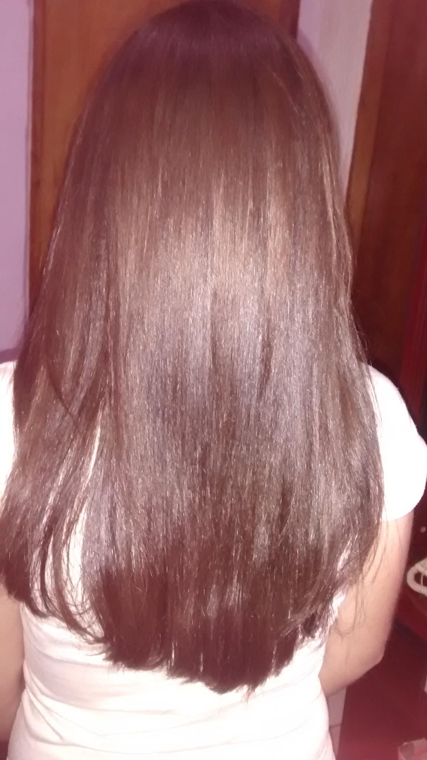 Depois da progressiva corte cabeleireiro(a)