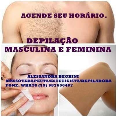 acupunturista depilador(a) massoterapeuta designer de sobrancelhas esteticista