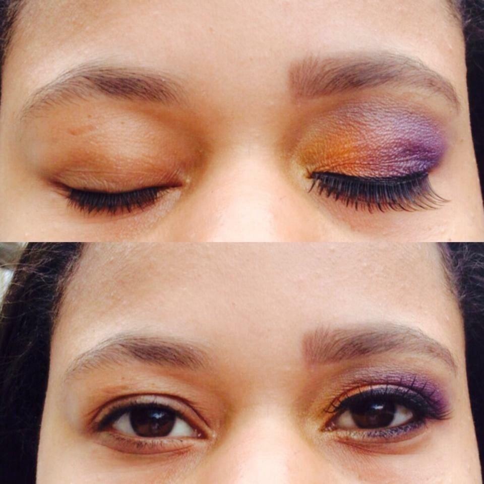Olho com contrastes de cores ! maquiador(a)