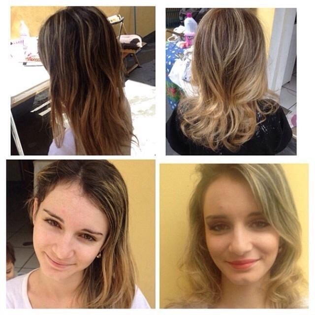 Mechas no tom bege!!! cabelo cabeleireiro(a) maquiador(a)