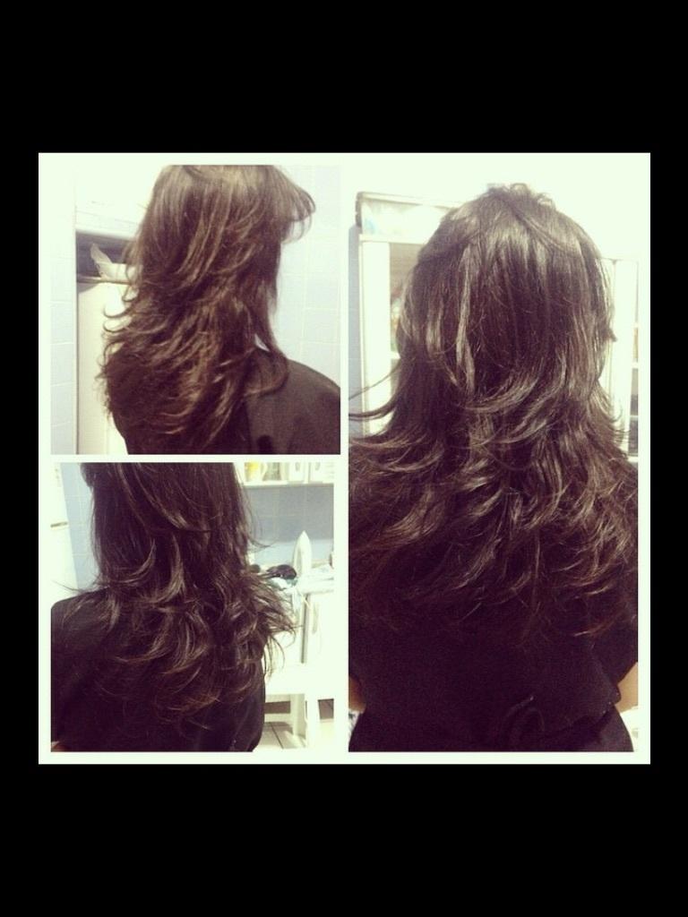 Corte em camadas. cabelo cabeleireiro(a) maquiador(a)