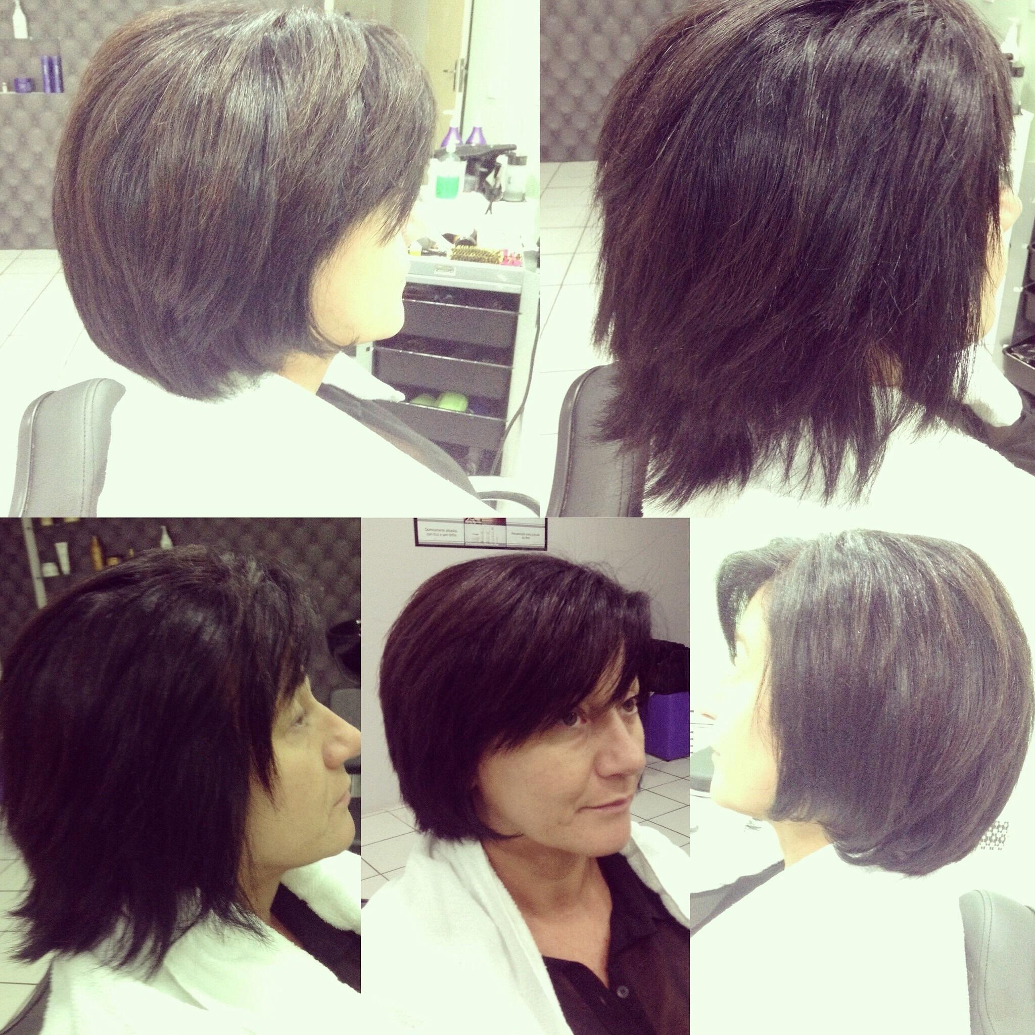 Corte e cauterização dos fios. cabelo cabeleireiro(a) maquiador(a)