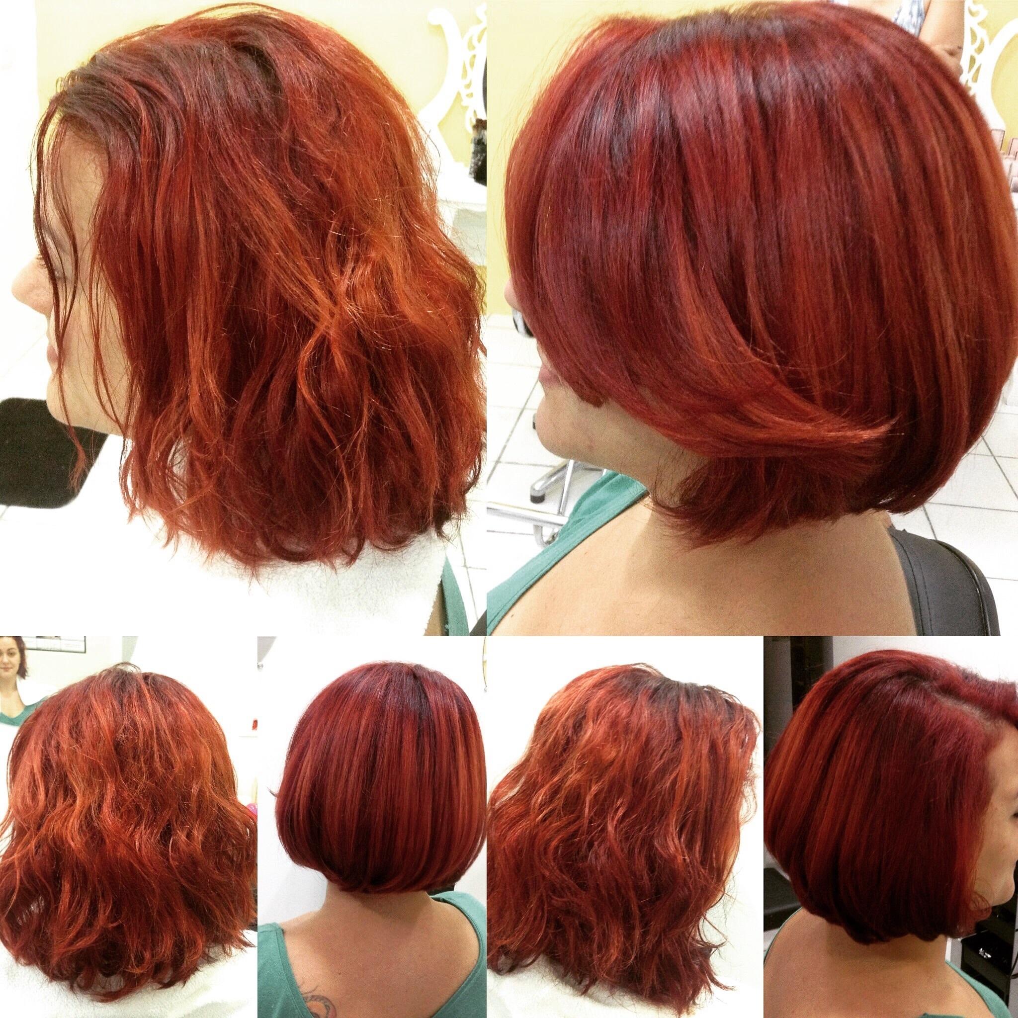 Corte e hidratação. cabelo cabeleireiro(a) maquiador(a)