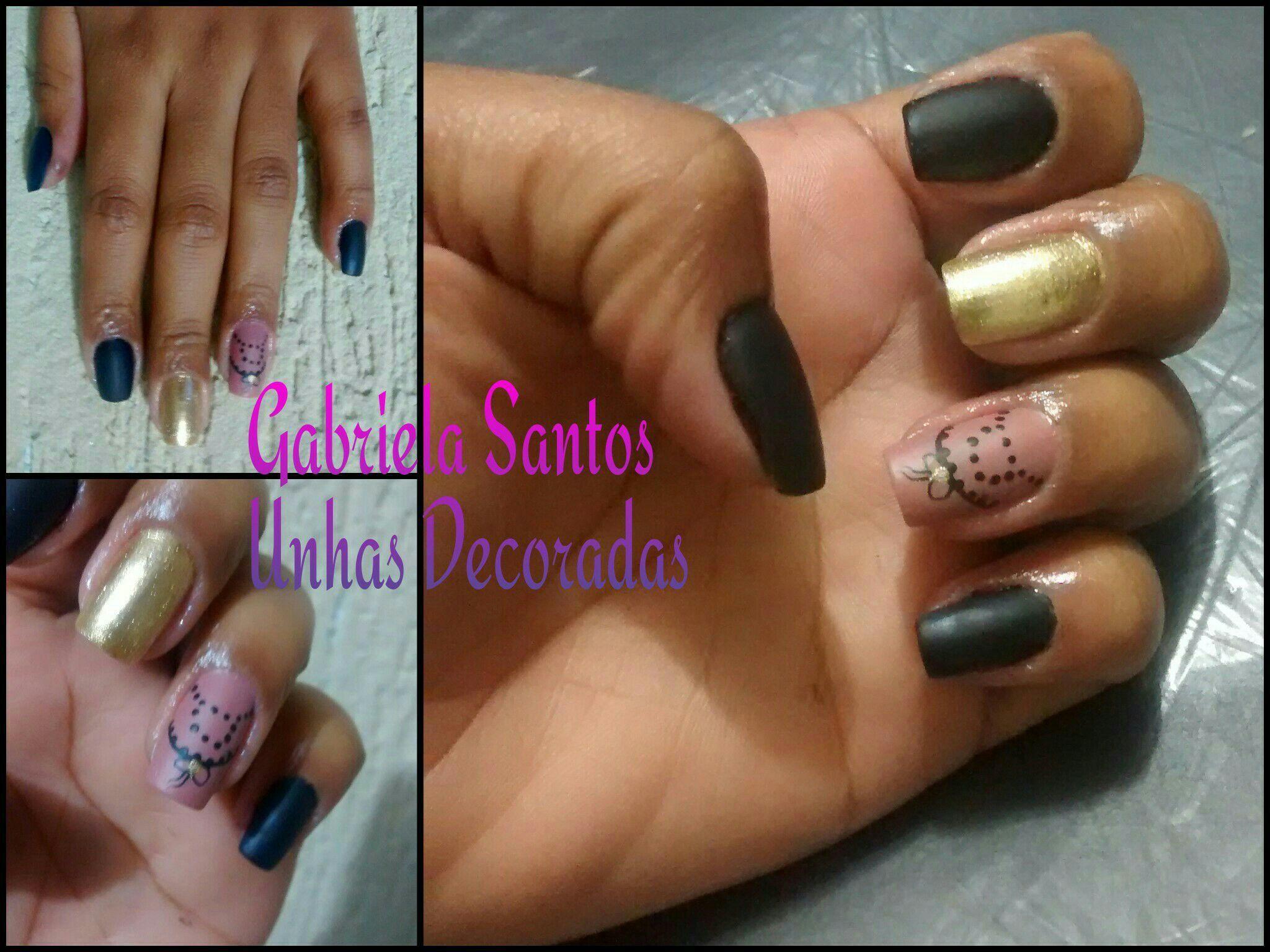 #UnhasDecoradas #Laço com Bolinha #NailArt  #DecoradaaMão #Esmalte manicure e pedicure