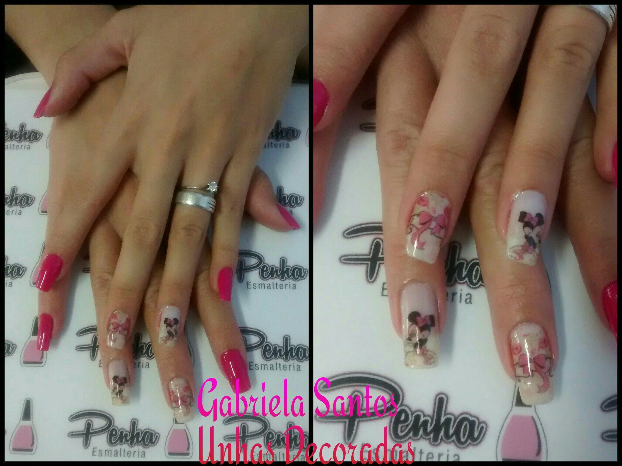 #UunhasDecoradas #Pelicula #Minnie #NailArt #Esmalte  #GabrielaSantosUnhasDecoradas manicure e pedicure