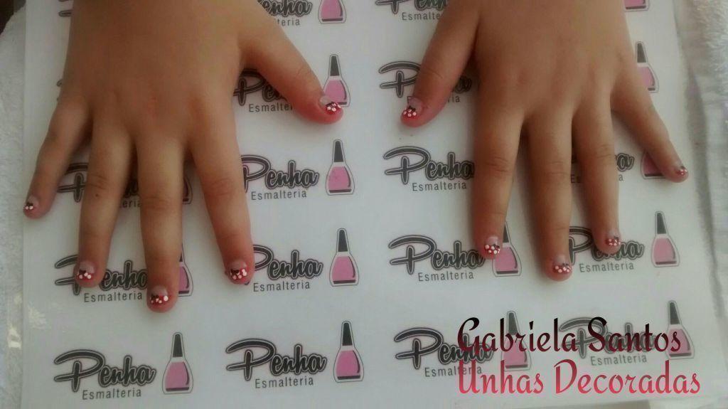 #UnhasDecoradas  #Minnie #Criança #NailArt  #GabrielaSantosUnhasDecoradas manicure e pedicure