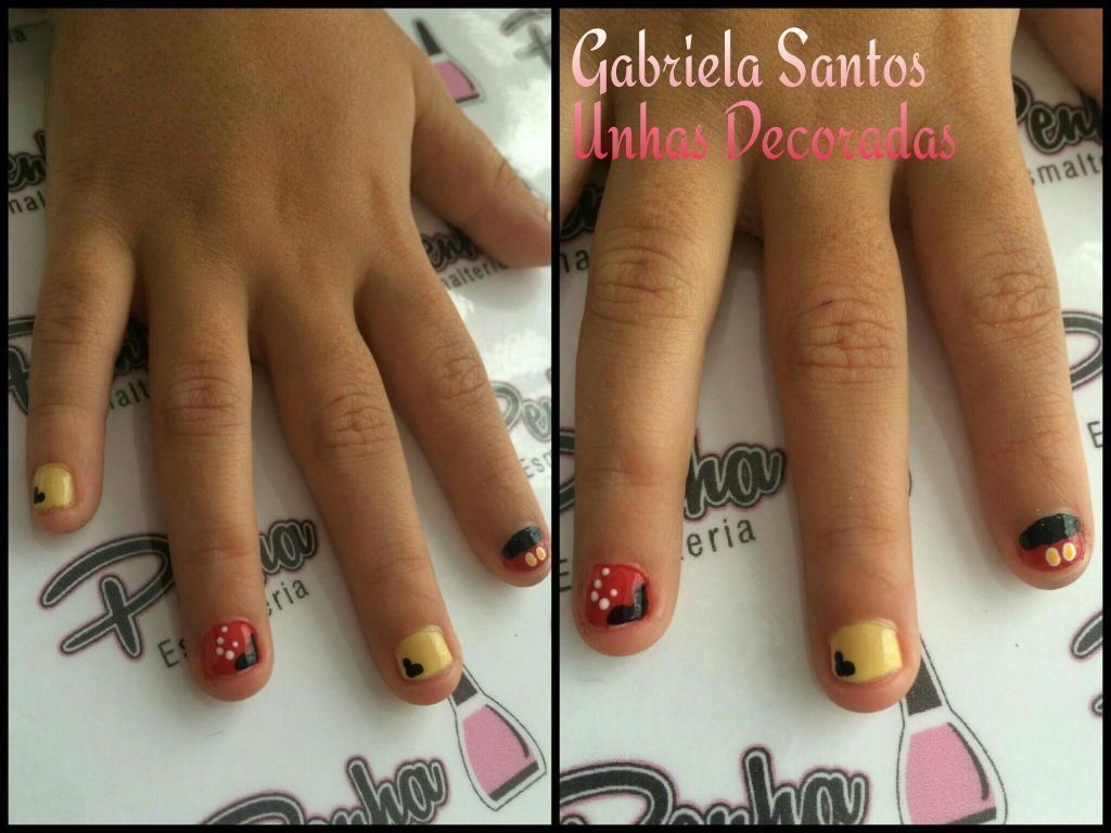#UnhasDecoradas #Mickey   #NailArt #Criança  #GabrielaSantosUnhasDecoradas manicure e pedicure