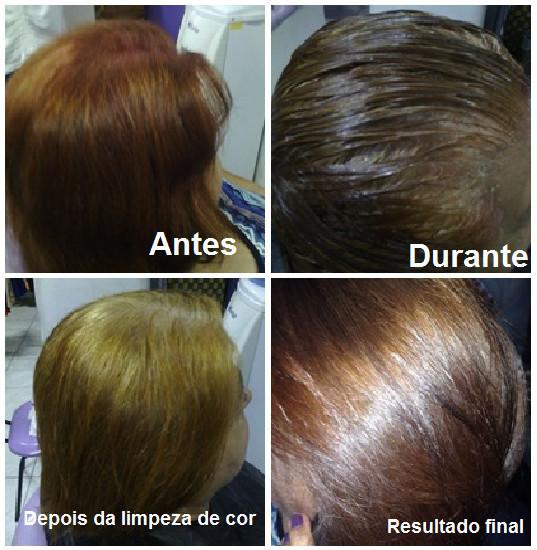 Remoção de coloração. Finalização com coloração. cabeleireiro(a) maquiador(a)