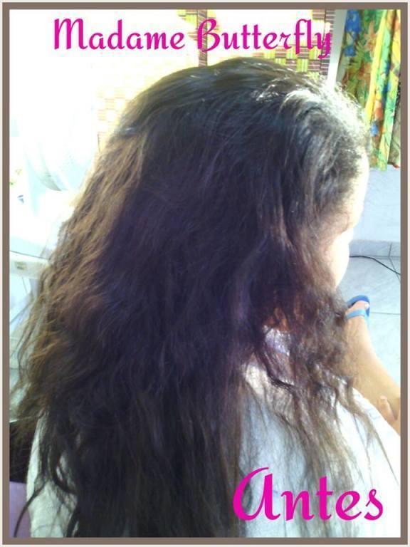 Progressiva sem formol. Antes cabeleireiro(a) maquiador(a)