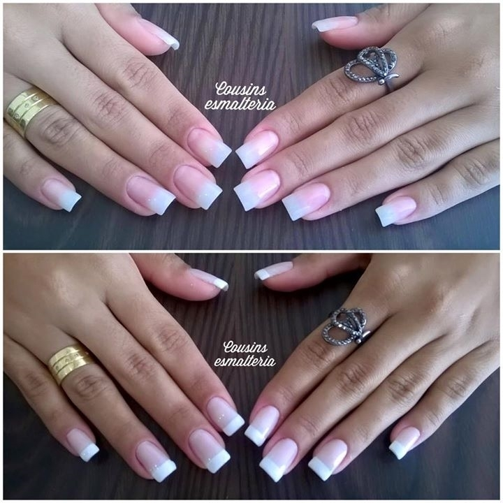 Unhas de acrigel manicure e pedicure