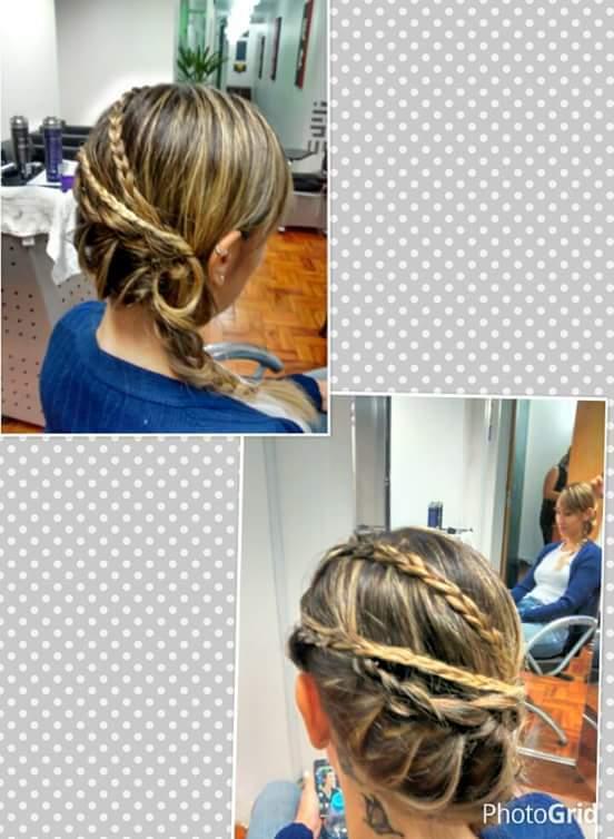 penteado preso, trança,  cabelo  cabeleireiro(a) maquiador(a)