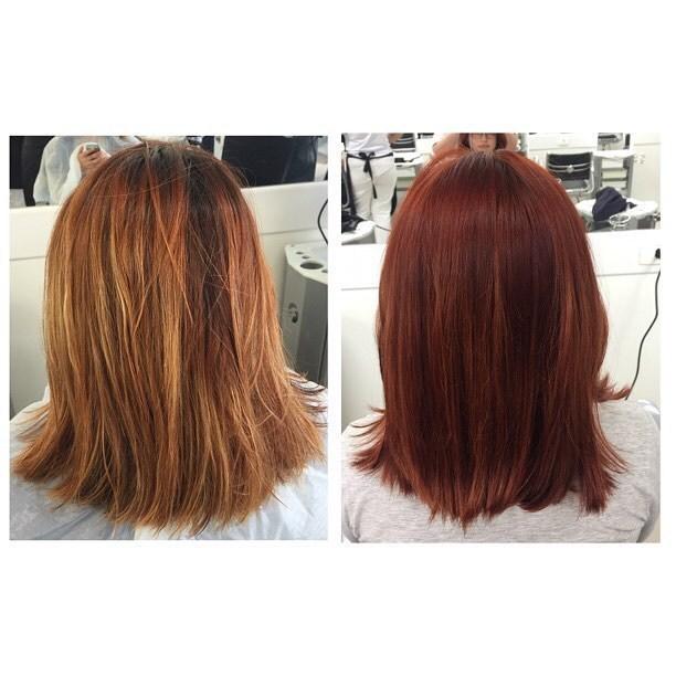 Correção da cor, usado efaçol pra limpeza e descida de tom e Majirel Rubilane  auxiliar cabeleireiro(a) auxiliar administrativo