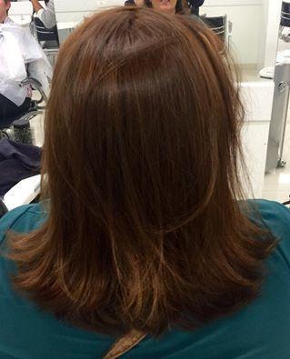 Coloração feita com Inoa auxiliar cabeleireiro(a) auxiliar administrativo