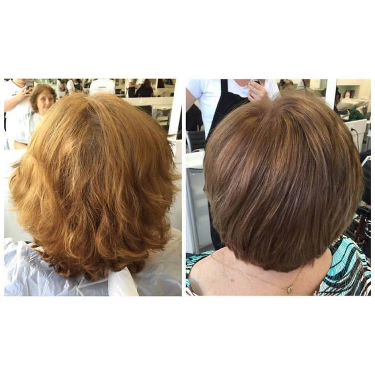 Corte e Coloração Majirel  corte curto, terceira idade cabelo  auxiliar cabeleireiro(a) auxiliar administrativo