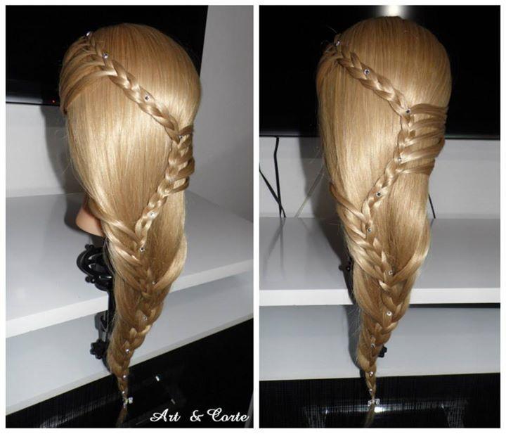 penteado, trança,  cabelo estudante (cabeleireiro)