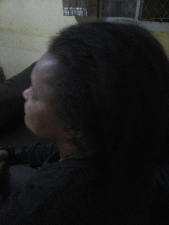 A imagem não está das melhores, mas esse cabelo era crespo e muito ressecado #Sem #Progressiva  auxiliar cabeleireiro(a)